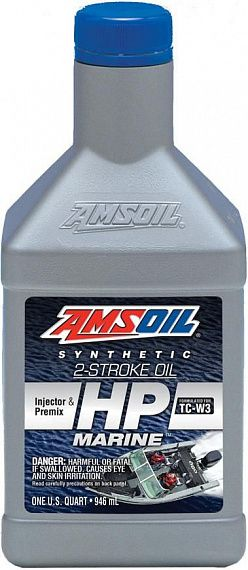 AMSOIL HP Marine Synthetic 2-Stroke Oil 0,946 л.