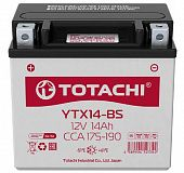 Аккумулятор TOTACHI MOTO YTX14-BS 14 а/ч R